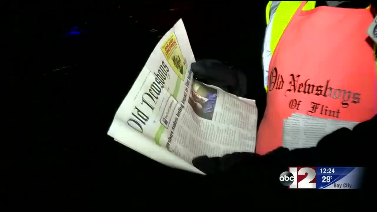 Old Newsboys Of Flint Hit The Streets For Their 92nd