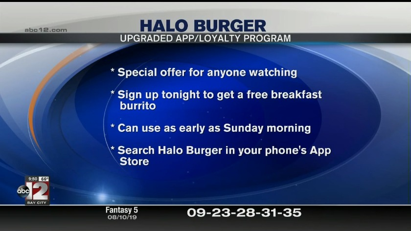 Halo offers FREE breakfast burrito to ABC12 viewers