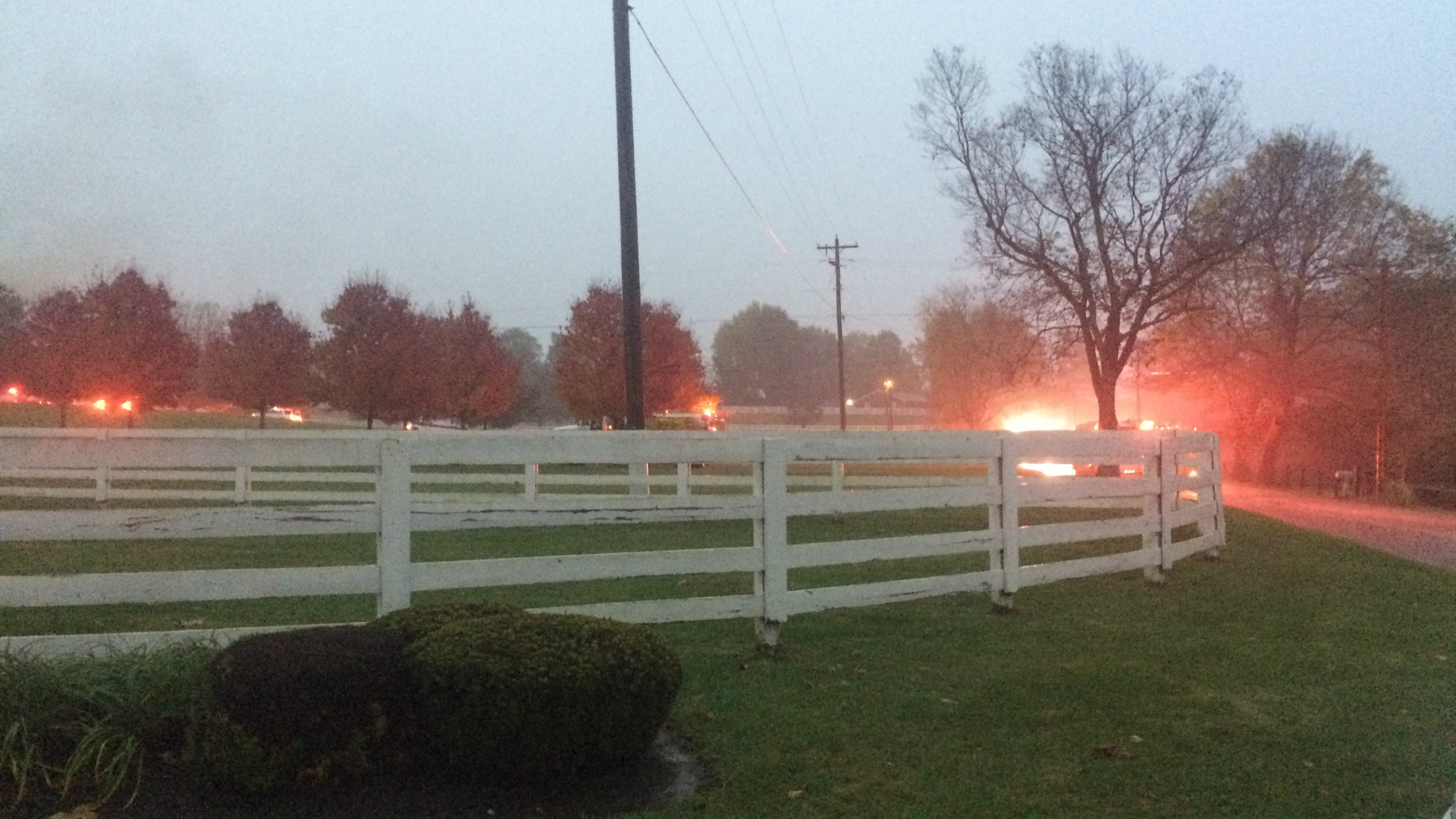 crews from two counties respond to battle house fire in jessamine co