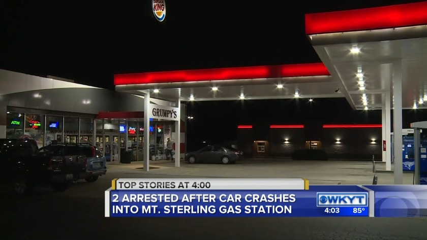 Car Crashes Into Mt Sterling Gas Station Two Arrested