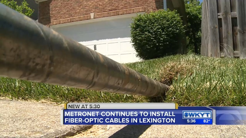 WATCH Metronet continues to install fiber-optic cables in