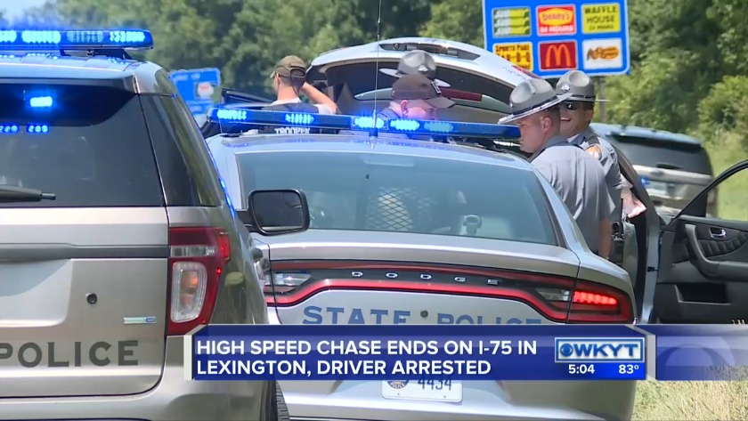 WATCH I-75 high-speed chase ends in Lex  after troopers