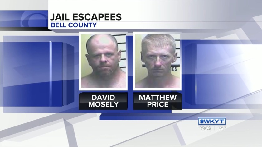 WATCH Search continues for escaped inmates in Bell County