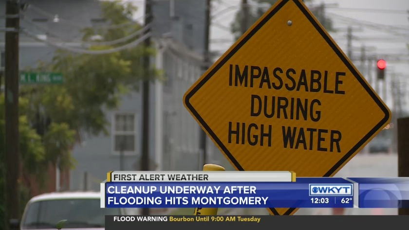 WATCH Cleanup underway after flooding in Montgomery County