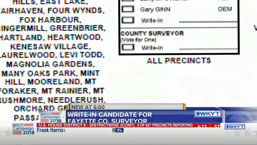 WATCH Write-in candidate for Fayette Co  surveyor