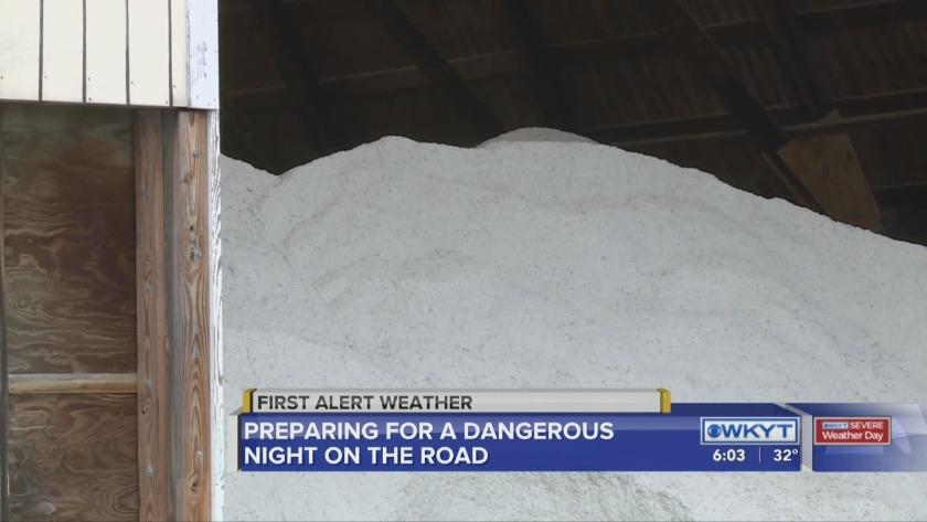 Rain, snow and sleet spell slippery roads in central Kentucky