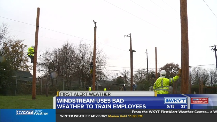WATCH Windstream uses inclement weather for training