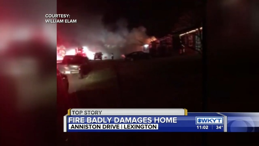 WATCH Fire Officials: 2 injured in Lexington duplex fire