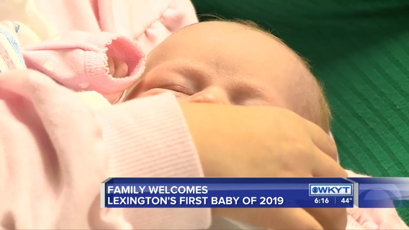 WATCH Here is the first Lexington baby born in 2019