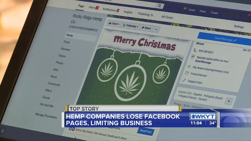 Kentucky companies selling hemp products get booted from