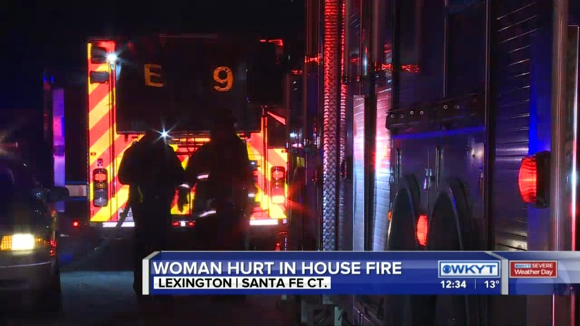 WATCH Battling fire, ice as Lexington woman treated for