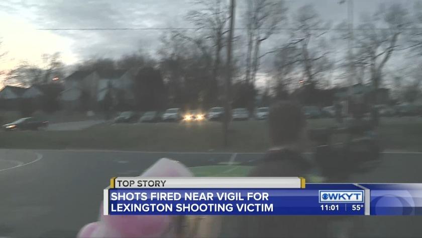 WATCH Gunshots heard at vigil for Lexington shooting victim
