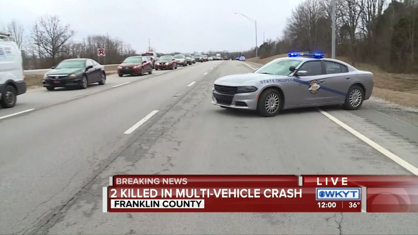 WATCH Kentucky State Police: 2 killed in Interstate 64 crash in