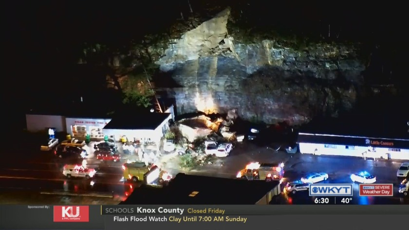 Rockslide damages business, cars in Pikeville