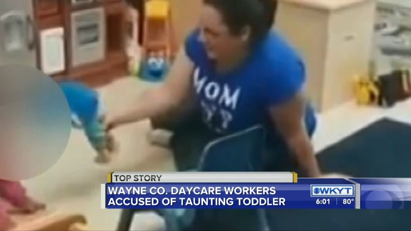 Wayne County daycare worker accused of taunting 2-year-old while co