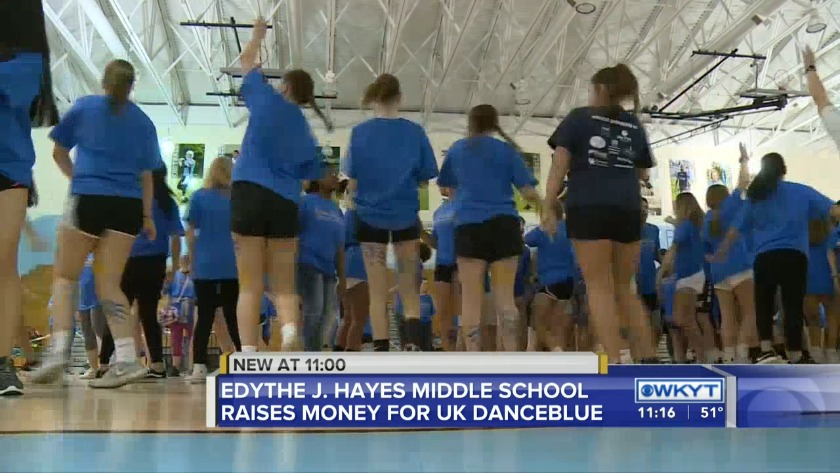 WATCH Edythe J  Hayes Middle School raises money for UK