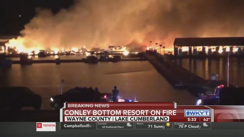 PHOTOS | Fire causes extensive damage at Lake Cumberland marina