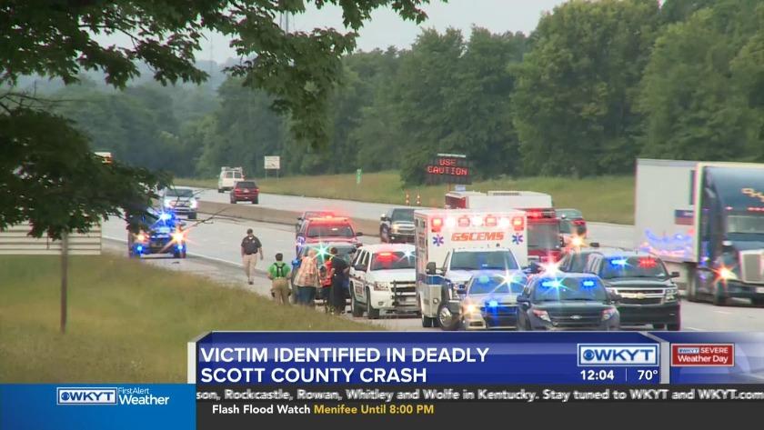 WATCH Man identified in fatal I-75 crash in Scott County