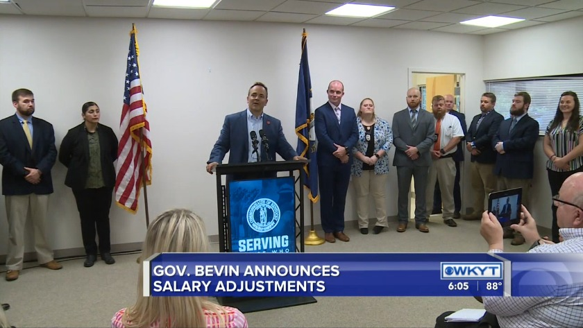 WATCH Gov  Bevin announces salary increase for some state