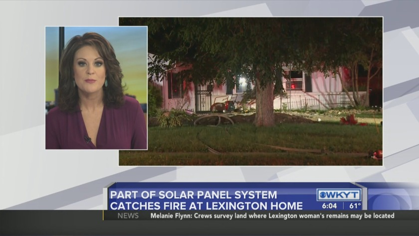 WATCH: Solar panel recharging system to blame in Lexington fire