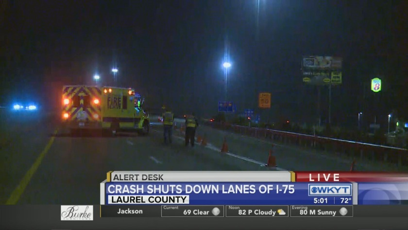 WATCH: I-75 in Laurel County reopens following semi crash