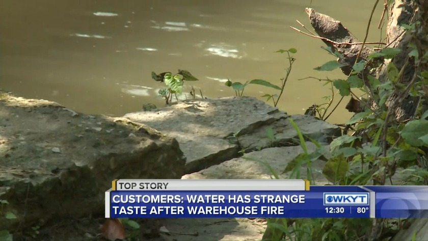 Franklin County water customers tasting effects of Jim Beam fire
