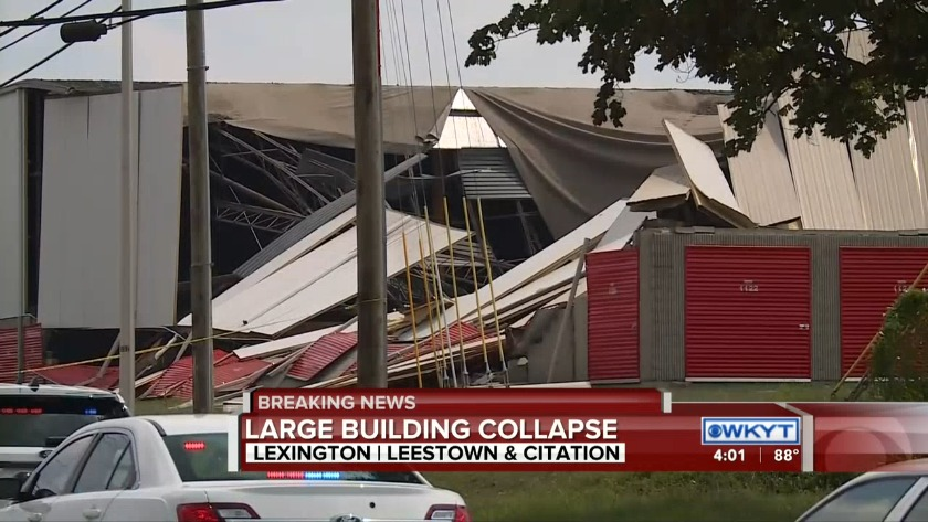 WATCH Lexington firefighters respond to U-Haul building collapse