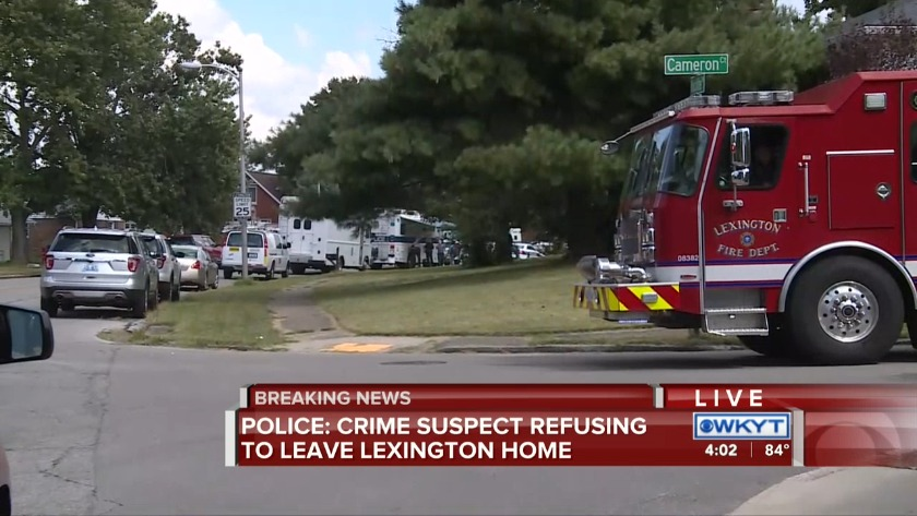 Hours-long standoff in Lexington ends peacefully