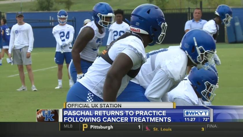 Josh Paschal returns to practice following final cancer treatment