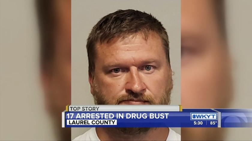 PHOTOS: Laurel County drug bust nets at least 17 arrests