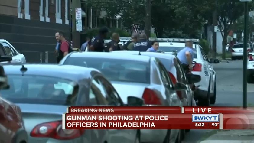 WATCH Gunman shooting at police officers in Philadelphia
