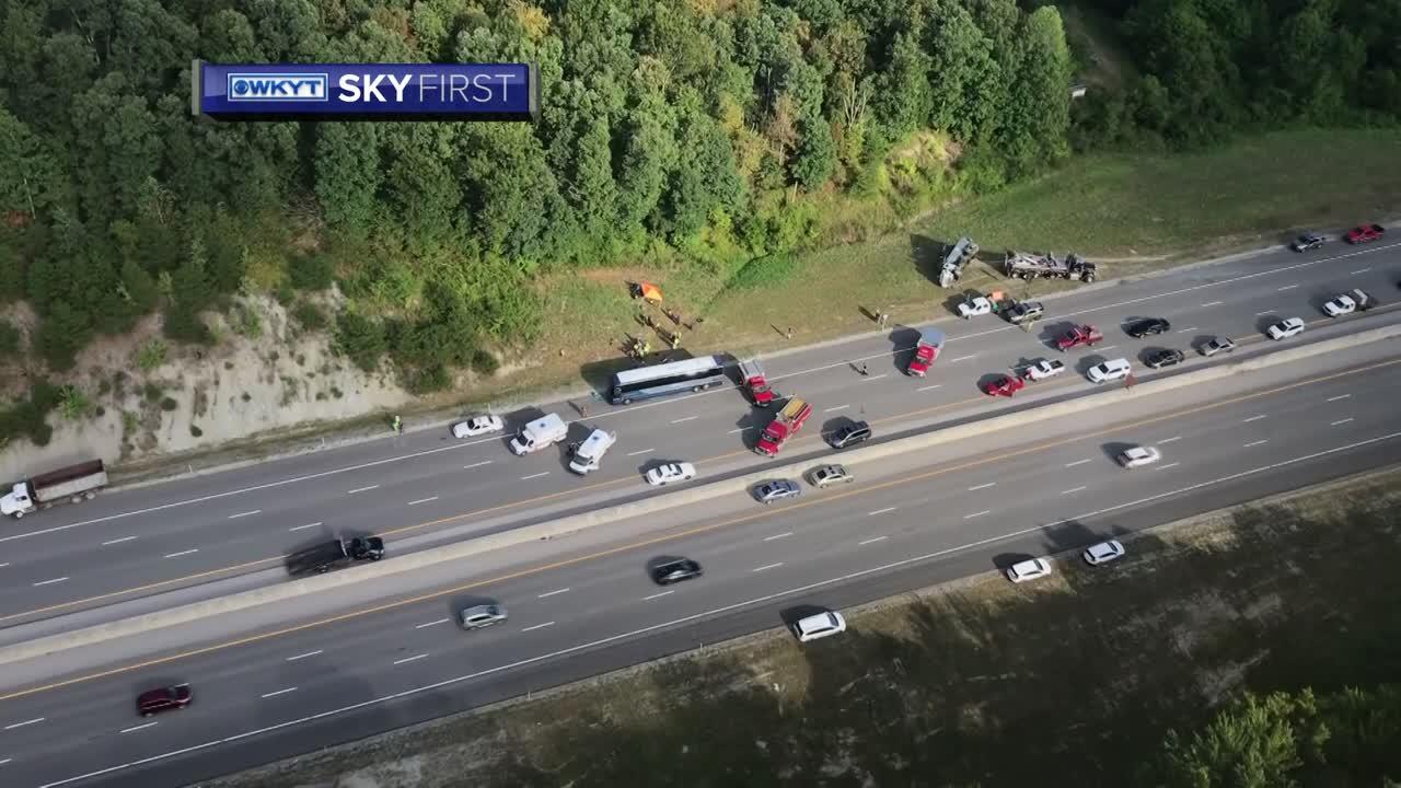 WATCH SkyFirst aerials of Greyhound bus crash on Interstate 75