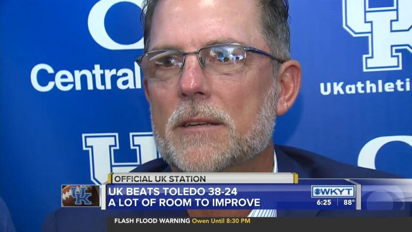 Kentucky rolls past Toledo 38-24 in the season opener