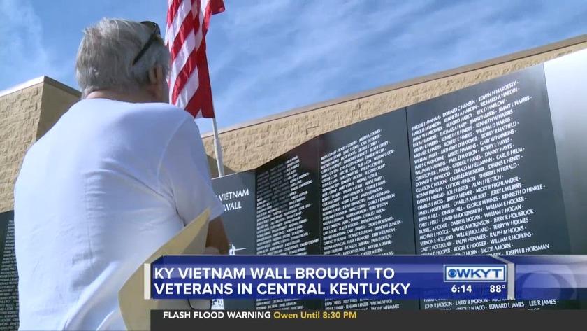 WATCH Kentucky Vietnam Wall brought to veterans in Central