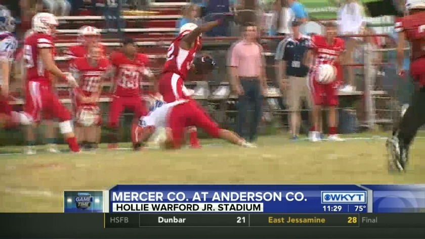 WATCH Mercer Co  remains unbeaten with 15-13 win at Anderson