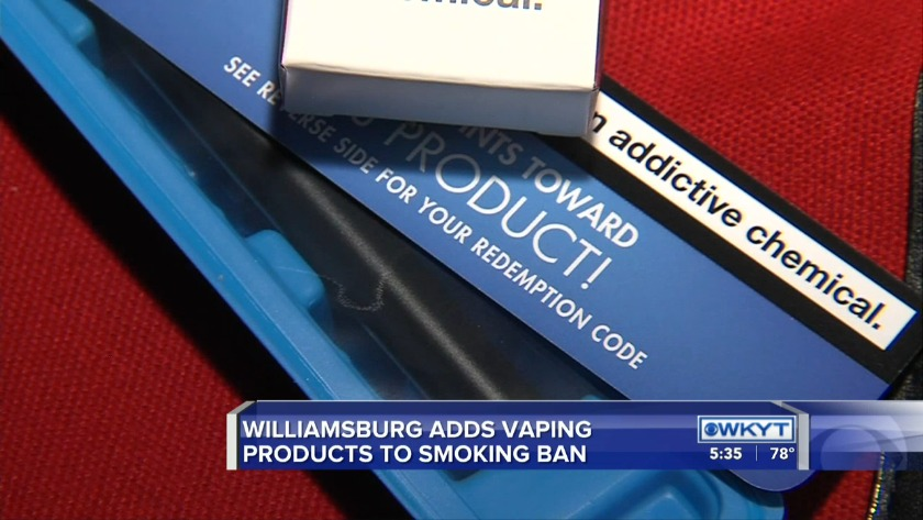 Watch Williamsburg Bans Use Of Electronic Cigarettes In