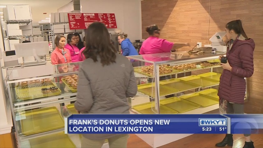 WATCH Frank's Donuts opens in Lexington