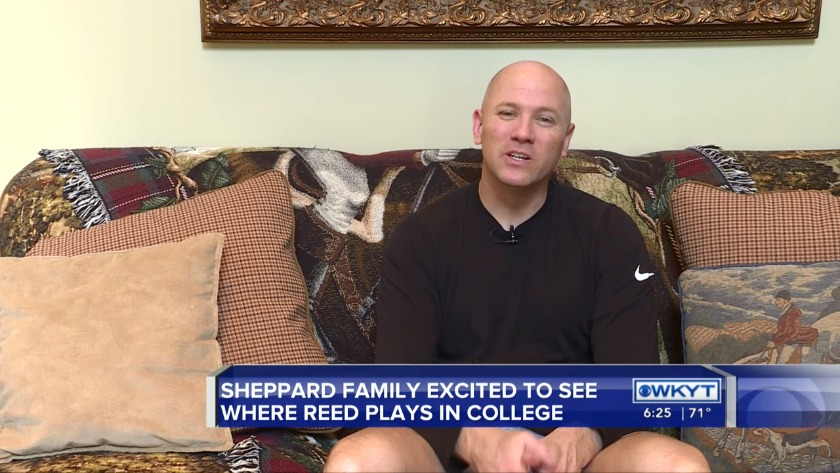Sheppard Family Excited To See Where Son Reed Plays In College