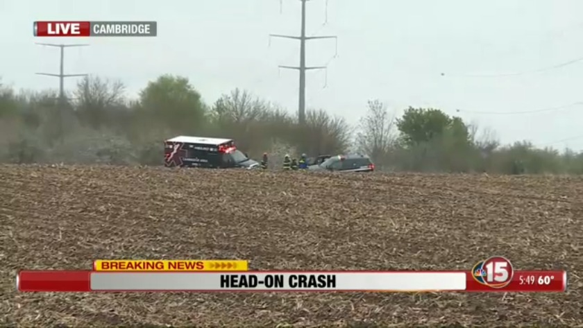 Fatal crash on US-12 near Cambridge