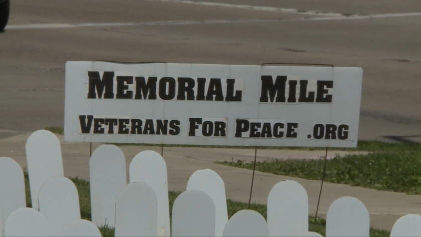 Veterans For Peace Memorial Mile >> Veterans For Peace Display Memorial Mile