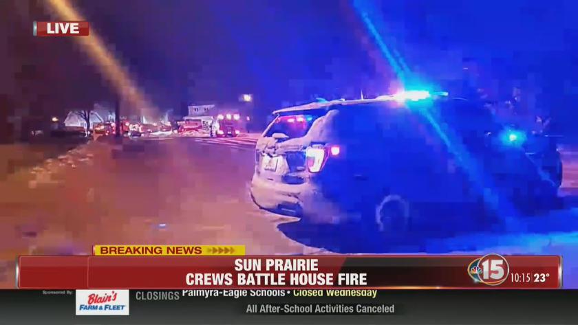 Breaking News: Sun Prairie House Fire