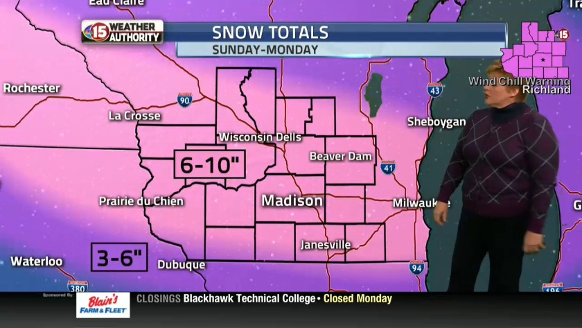 Winter Storm Warning for South Central Wisconsin
