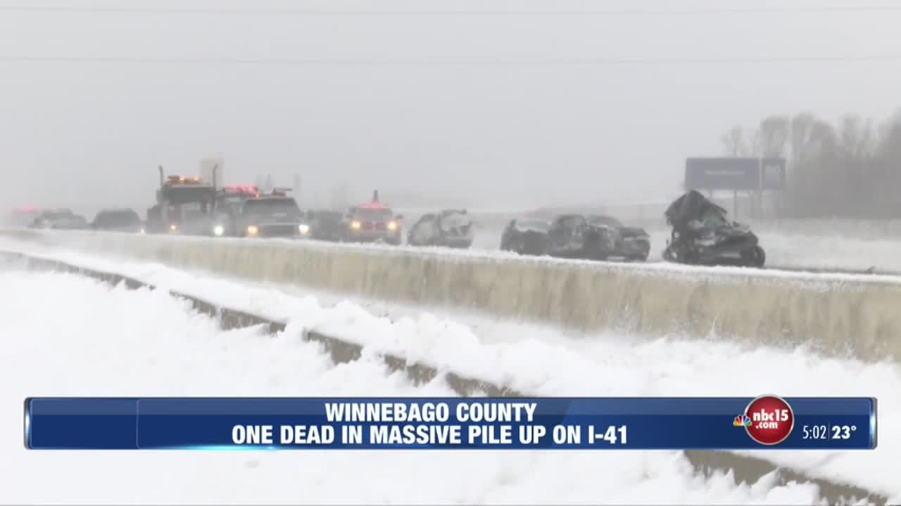 One dead, 71 injured in pileup on I-41 south