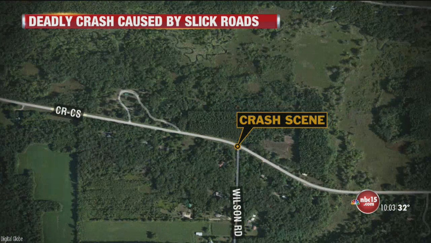 Slick roads lead to deadly crash in Columbia County