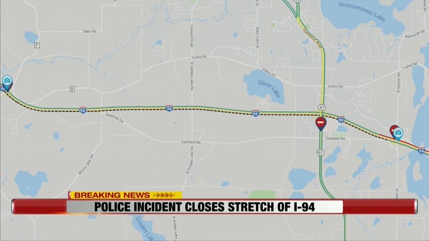 Standoff with armed suspect in vehicle leads to total I-94 closure on map of lake ripley wi, map monroe county wi, map of fort atkinson wi, map of lakewood wi, map of lafayette county wi, map of la crosse county wi, map of calumet county wi, map of fond du lac county wi, map of brighton wi, map of rock lake wi, map of green county wi, map of iowa county wi, map of city of milwaukee wi, map of de soto wi, map of wisconsin showing counties, map of dodge county wi, map of eau claire county wi, map of clark county wi, map of st croix county wi, map adams county wi,