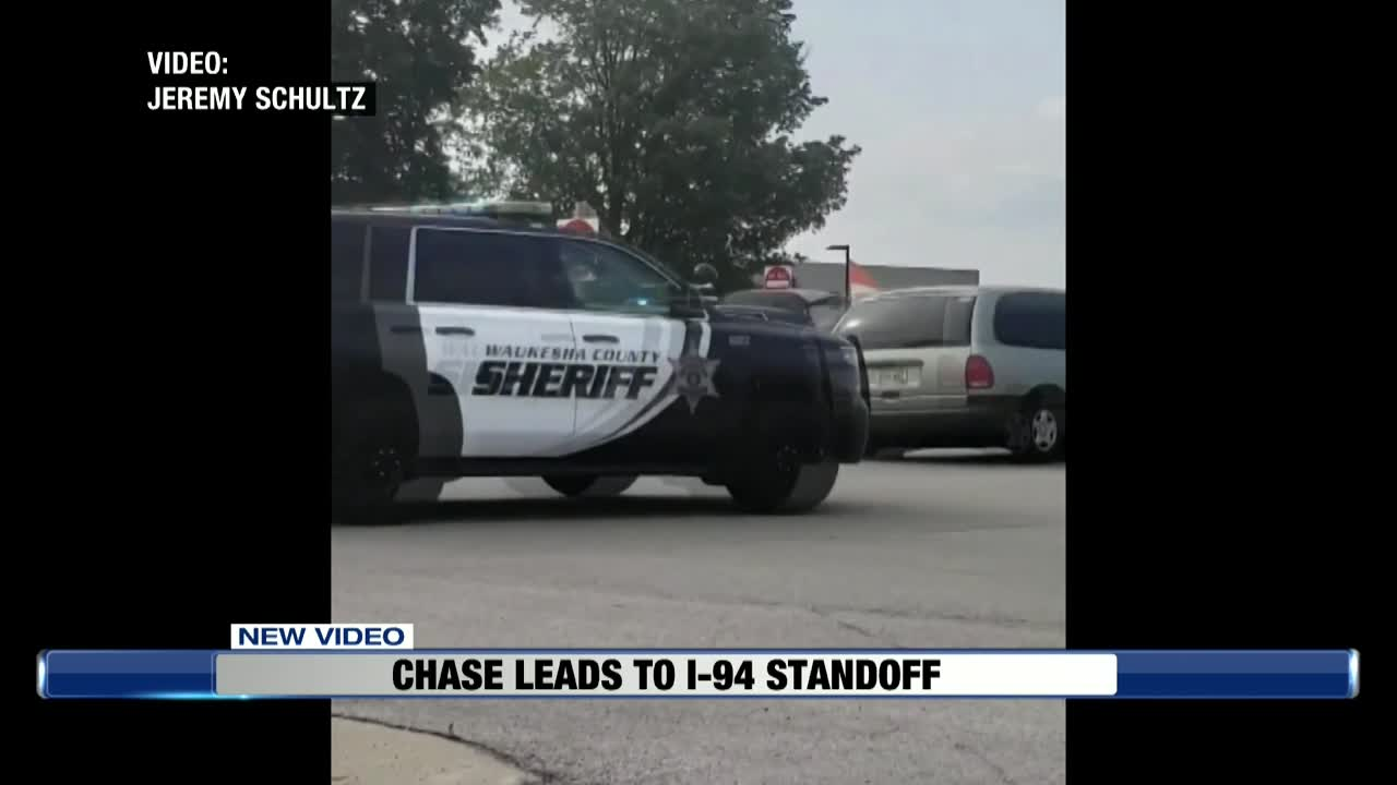 Standoff with armed suspect in vehicle leads to total I-94 closure
