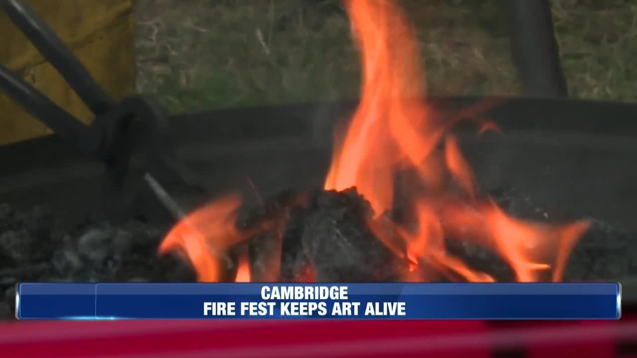 Farm fire outside Belmont
