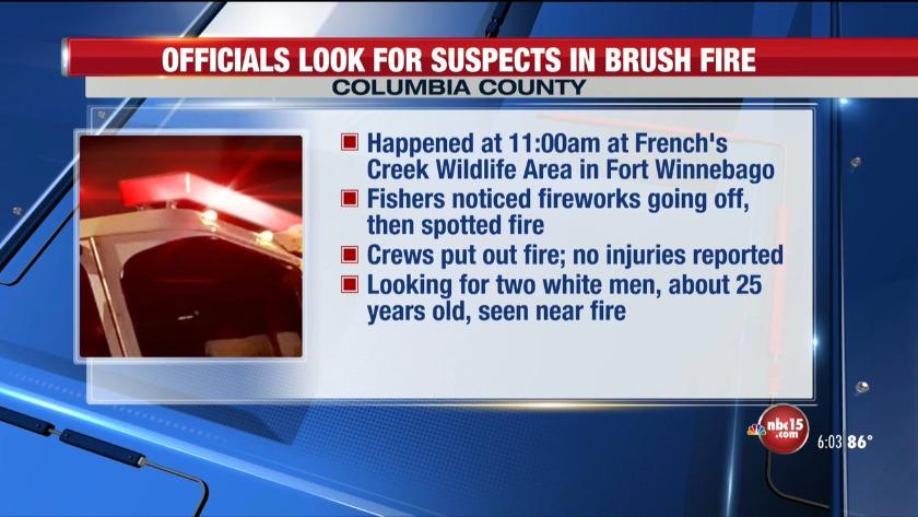 Columbia County Brush Fire