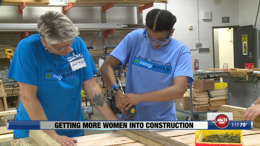 Summer camp encourages girls to explore construction