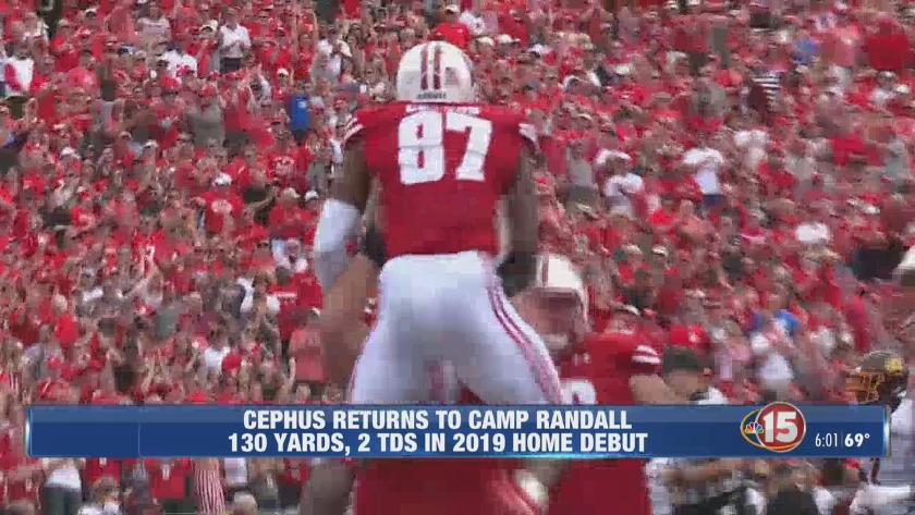 Quintez Cephus returns to Camp Randall Stadium